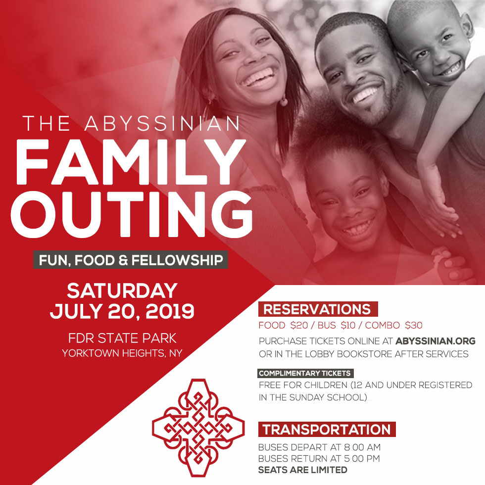 The Abyssinian Family Outing: Fun, Food & Fellowship